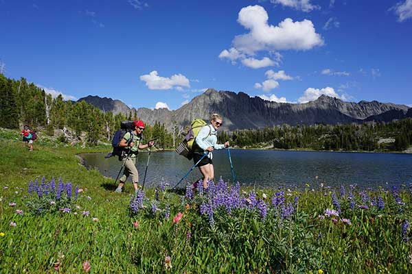 MWF Board Member Annie McLaughlin and friends hike the Crazies - Zach Porter